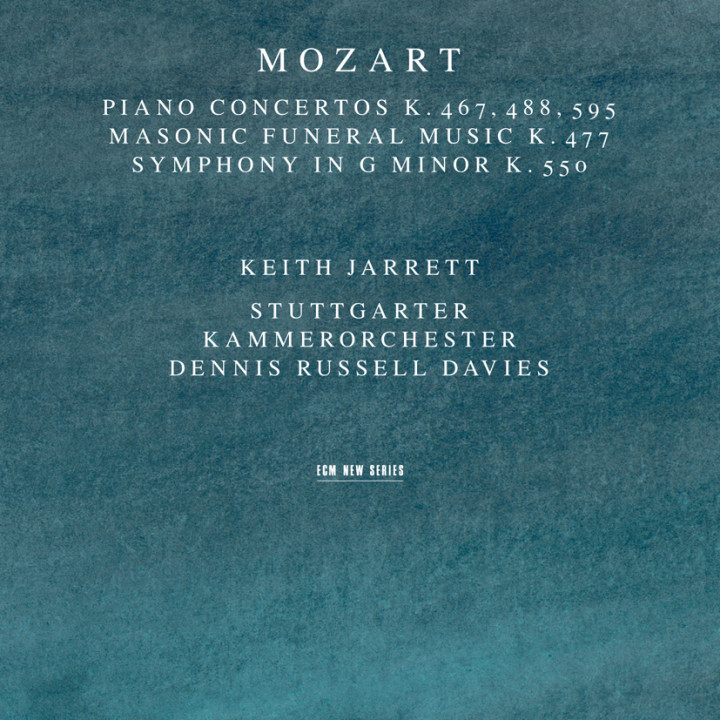 Wolfgang Amadeus Mozart Piano Concertos Masonic Funeral Music Symphony G minor – Keith Jarrett: Piano, Stuttgarter Kammerorchester Dennis Russell Davies: conductor – Recorded November 1994
