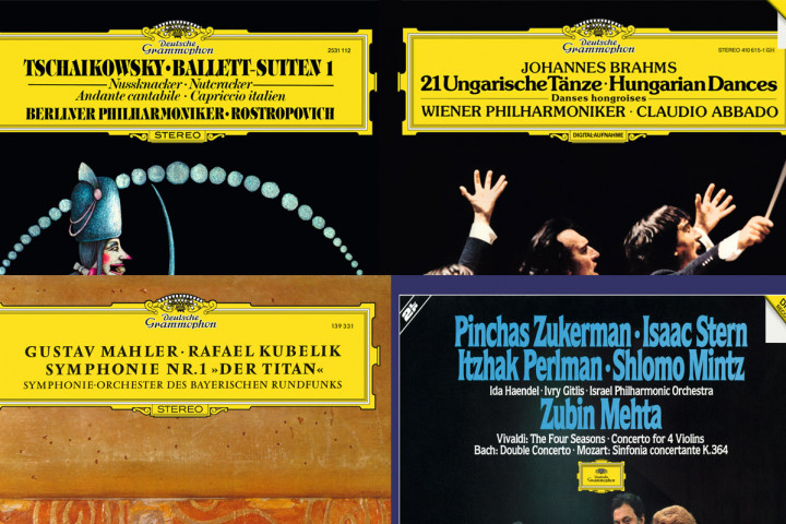 Mstislav Rostropovich, Claudio Abbado, Rafael Kubelik, Pinchas Zukerman