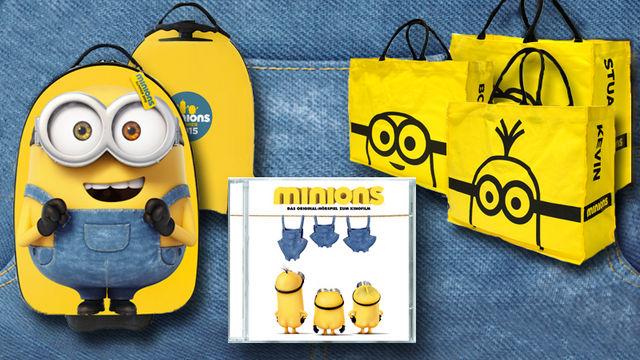 Minions, Banana! Gewinnt eins von sieben Minions-Fanpaketen
