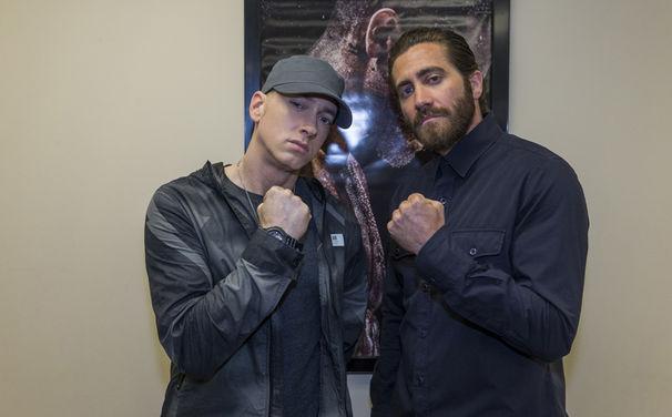 Eminem, Eminem und Jake Gyllenhaal besuchen Southpaw-Vorpremiere in Detroit