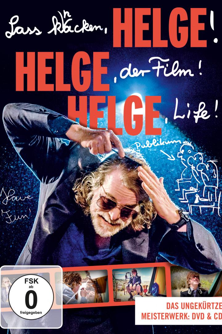 "Helege Schneider DVD Cover ""Lass knacken, HELGE! HELGE, der Film! HELGE, Life!"""