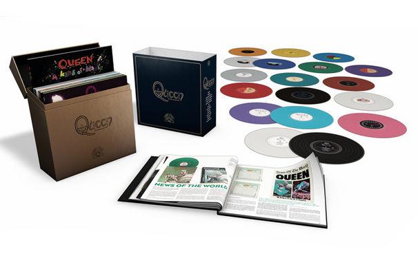 Queen, Queen on Vinyl: hier wird das königliche LP-Boxset schon einmal ausgepackt.