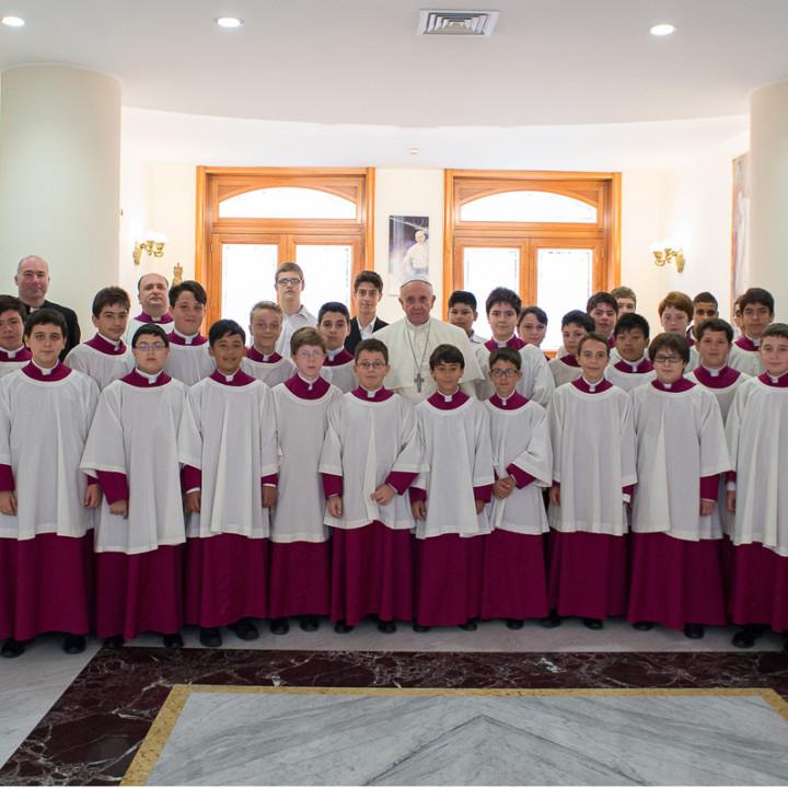 Chor der Sixtinischen Kapelle, Massimo Palombella, Papst Franziskus