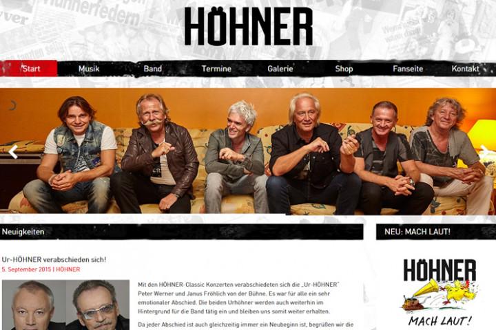 Höhner Webseite neu