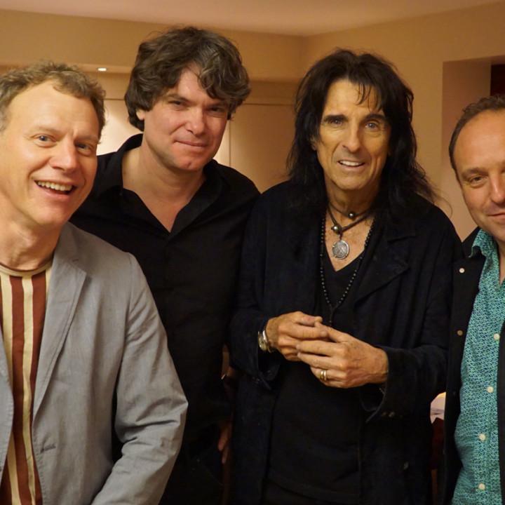Doug Fitch, Frédéric Gumy, Alice Cooper, Edouard Getaz