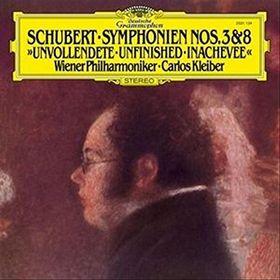 Carlos Kleiber, Schubert: Sinfonie 3 & 8 - Die Unvollendete, 00028947931904