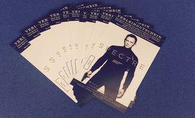 Sam Smith, James Bond 007 - Spectre  - Gewinnt 5x2 Karten für den Kino-Klassiker