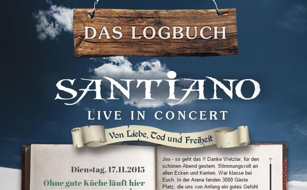 Santiano, Das Santiano Tour-Logbuch ist online!