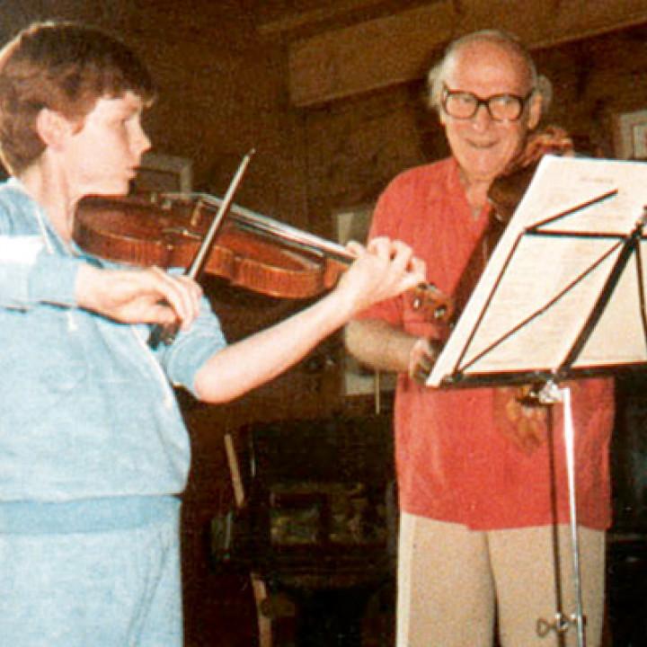 Gstaad, 1983: Daniel Hope und Yehudi Menuhin