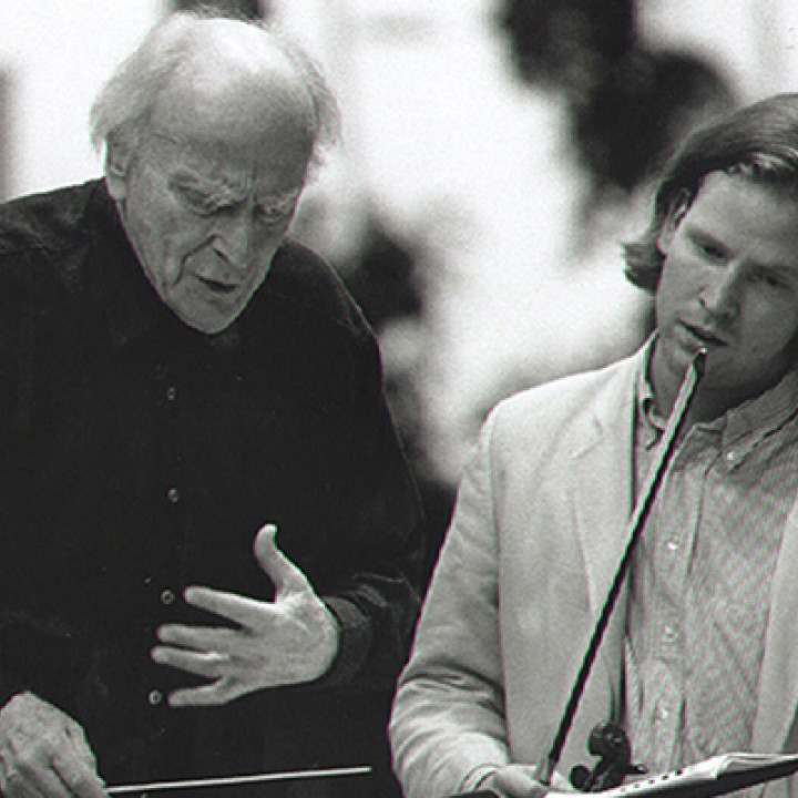 Gstaad, 1996: Daniel Hope and Yehudi Menuhin