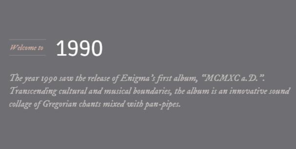 Enigma, Enigma Moments