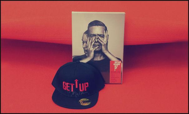 Bryan Adams, Wir verlosen Bryan Adams' Album Get Up als Limited Fanbox und eine signierte Cap