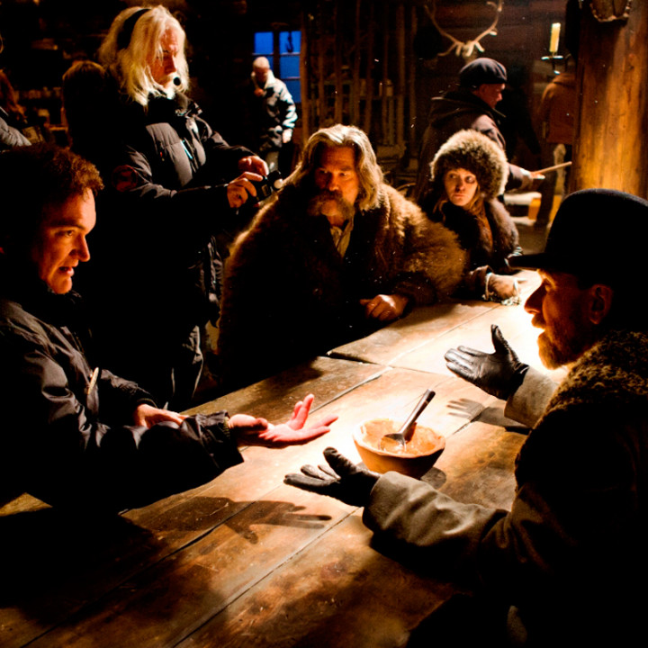 Quentin Tarantino, Kurt Russell, Jennifer Jason Leigh, Tim Roth