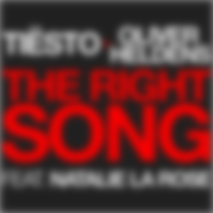 Tiesto_OliverHeldens feat Natalie La Rose - The Right Song_Singlecover