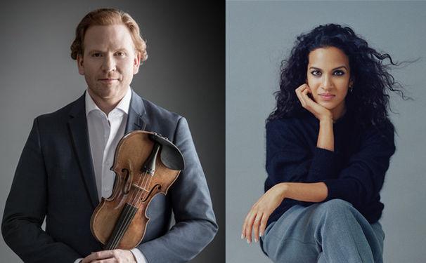 Daniel Hope, Daniel Hope und Anoushka Shankar musizieren zu Ehren Yehudi Menuhins im Konzerthaus Berlin