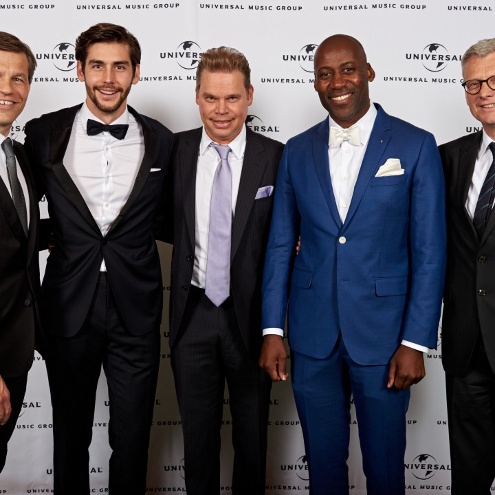 Frank Briegmann, Alvaro Soler, Tom Bohne, Joe Chialo, Jörg Hellwig