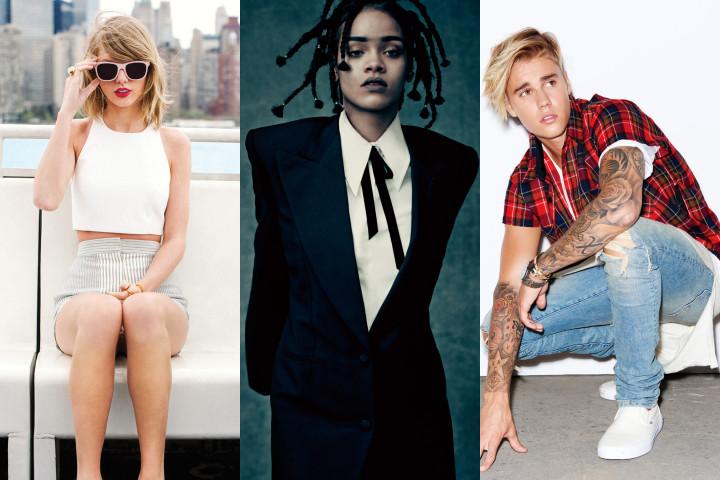 Taylor Swift Rihanna Justin Bieber