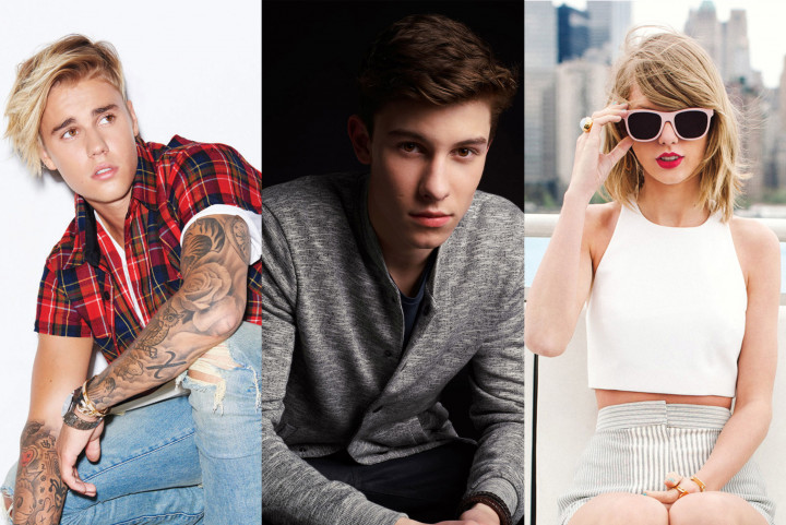 Justin Bieber Shawn Mendes Taylor Swift