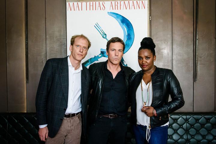 Matthias Arfmann mit Peter Imig und Onejiru