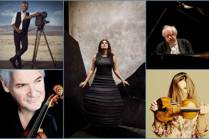 Andrea Bocelli, Anna Netrebko, Grigory Sokolov, Pinchas Zukerman, Janine Jansen