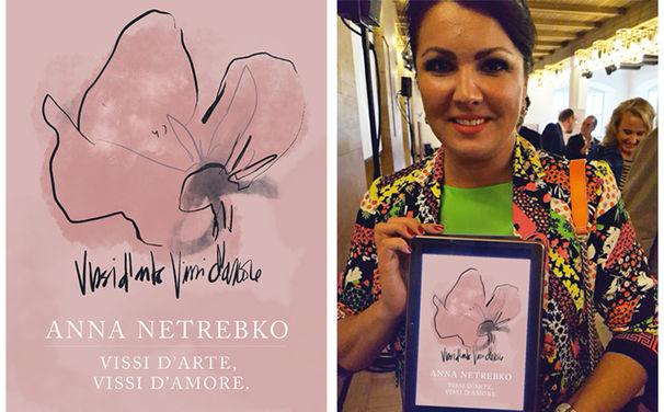 Anna Netrebko, ¡Felicitaciones! Die kreative Illustration einer argentinischen Grafikerin gewinnt Anna Netrebkos Herz