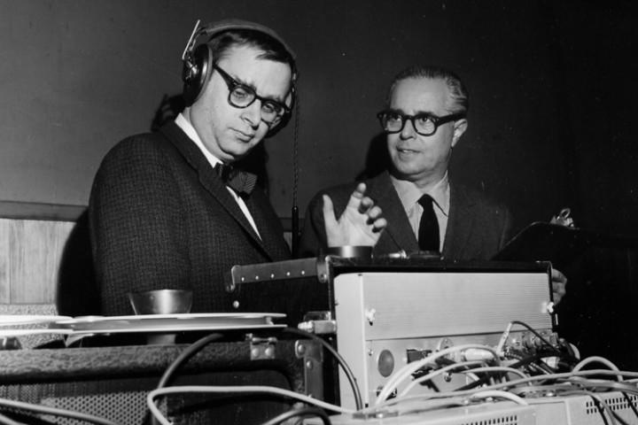 Rudy Van Gelder mit Alfred Lion