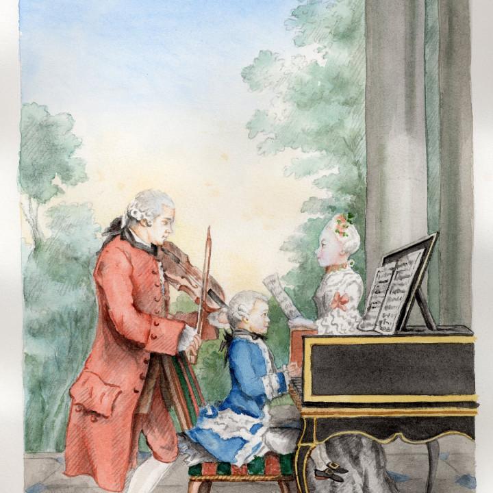 Leopold Mozart und seine Kinder