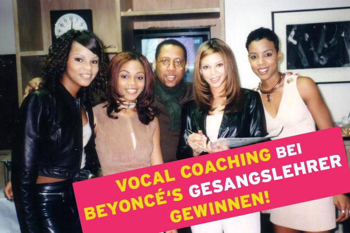 Vocal Coaching bei Beyoncé's Gesangslehrer gewinnen