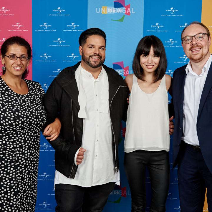 Kleopatra Sofroniou, Fernando Varela, Alice Sara Ott, Clemens Trautmann, Universal Inside 2016Universal Inside 2016