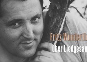 Fritz Wunderlich, Liedgesang