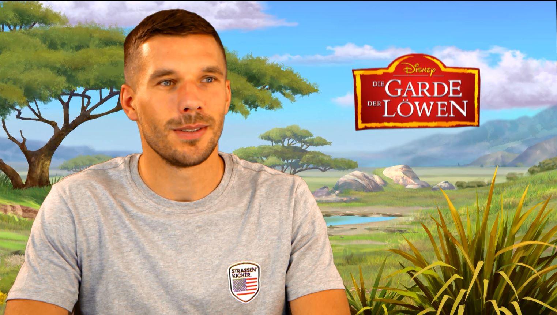 """Interview mit Lukas Podolski zur """"Garde der Löwen"""""""