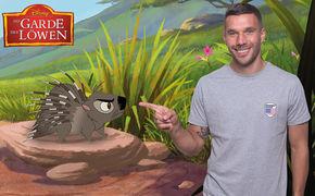 Disney, Unerwartete Rolle von unserem Weltmeister: Lukas Podolski wird in Die Garde der Löwen zum Stachelschwein