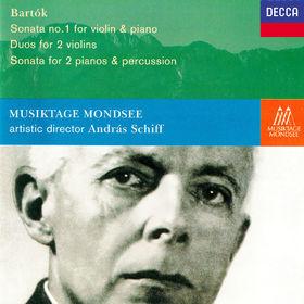 András Schiff, Bartók: Violin Sonata No. 1; Sonata for 2 Pianos & Percussion; 10 Duos, 00028948310081