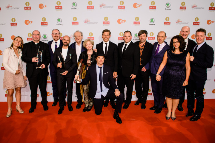 Massimo Palombella, Max Emanuel Cenic, Alfred Brendel, Campino (Gewinner Echo Klassik v.l.)