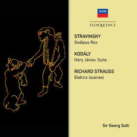 Sir Georg Solti, Stravinsky: Oedipus Rex; Strauss: Elektra (Scenes); Kodaly: Hary Janos Suite, 00028948090877