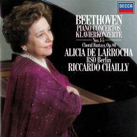 Alicia de Larrocha, Beethoven: Piano Concertos Nos. 1-5; Choral Fantasia, 00028948310623