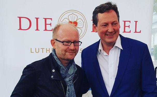 Martin Luther, Dieter Falk stellt seine Albumprojekte zum 500. Jahrestag der Reformation auf der Frankfurter Buchmesse vor