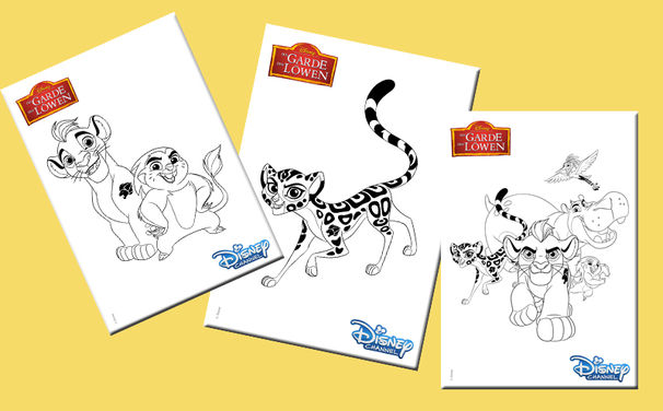 Disney, Tierischer Ausmalspaß mit der Garde der Löwen