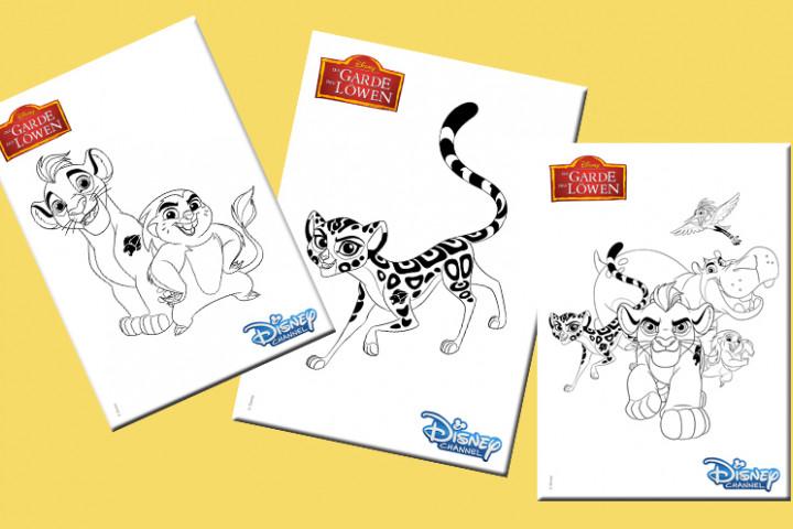 Disney News Tierischer Ausmalspaß Mit Der Garde Der Löwen