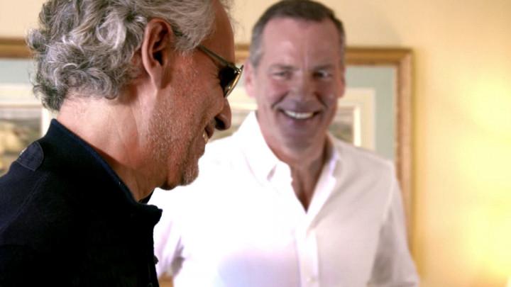 Andrea Bocelli trifft Henry Maske
