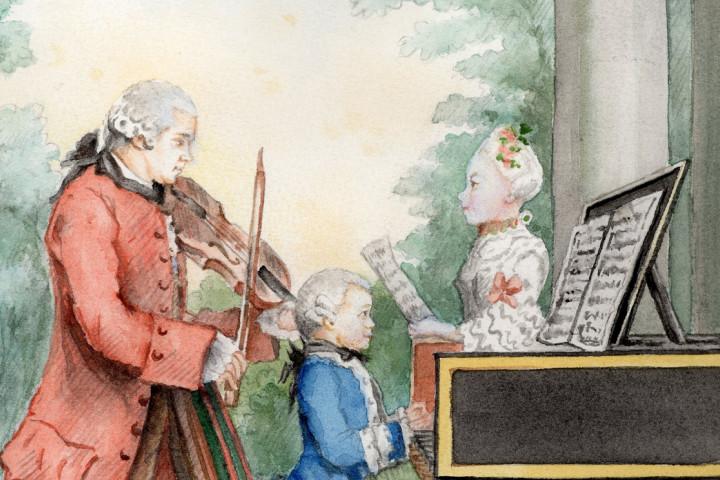 Wolfgang Amadeus Mozart und Familie