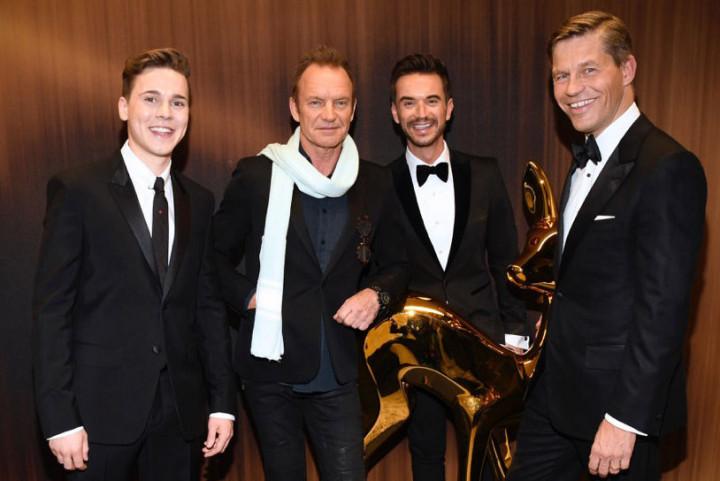 UNIVERSAL MUSIC Künstler beim Bambi 2016: Preise für Felix Jaehn und Florian Silbereisen – Sting performt live