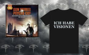Don Harris - Psycho Cop, Don Harris – Psycho Cop: Gewinnt 3x die komplette Hörspielserie mit T-Shirt