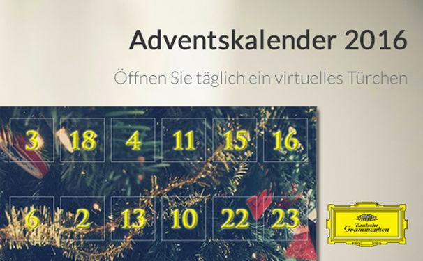 Diverse Künstler, Adventkalender 2016 – feiern Sie die Vorweihnachtszeit mit der Deutschen Grammophon