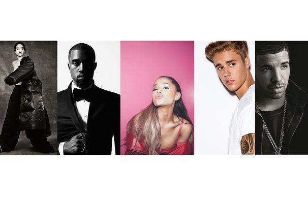 Kanye West, Der Streaming-Wettkampf: Spotify enthüllt die meist gestreamten Künstler 2016