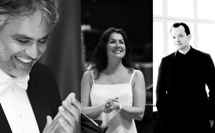 Andrea Bocelli, Anna Netrebko, Andris Nelsons