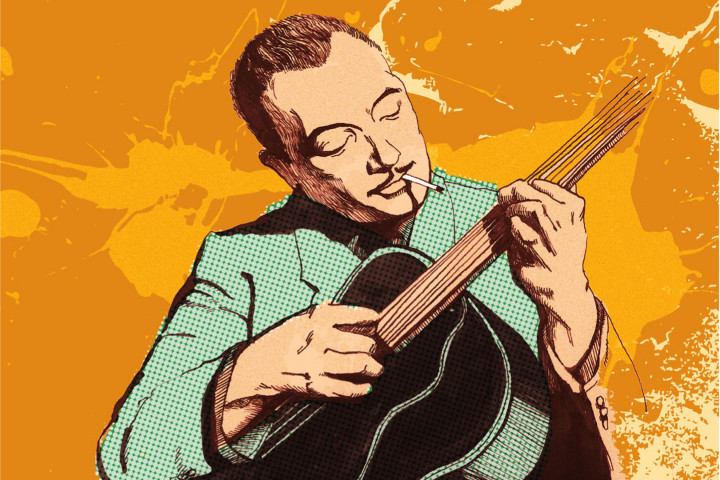 Django Reinhardt - The Art of Swing illustrated by Lidia Beleninova
