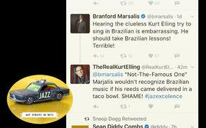 Auf Streife im Netz, Kampf der Titanen - Twitter-Krieg zwischen Branford Marsalis und Kurt Elling