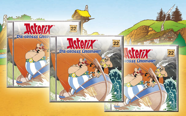 Asterix, Es geht auf große Überfahrt mit der 22. Asterix Hörspielfolge