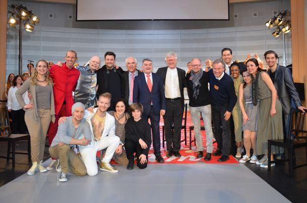 Dieter Falk, Dieter Falk mit Pop-Oratorium Luther im Europaparlament in Brüssel